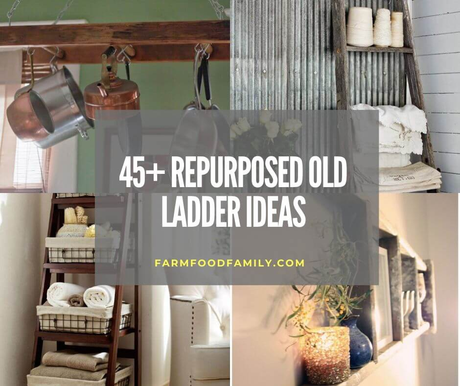 45 Clever Repurposed Diy Old Ladder Ideas Designs With Tutorials