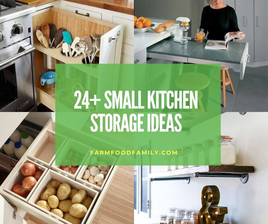 24+ Clever Small Kitchen Storage Ideas & Hacks (Easy) In 2020