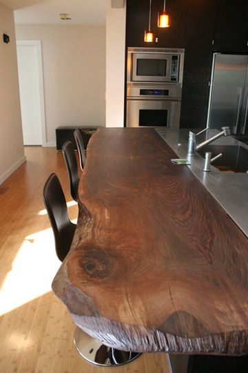 Live Wood Edge in the Kitchen