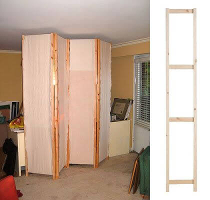 Attach 4 IKvar side units with piano hinges