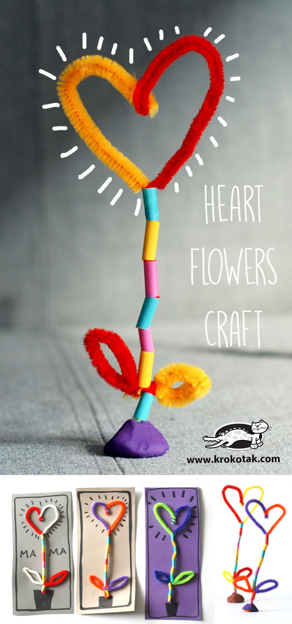 Heart flowers | Heart-Shaped Crafts For Valentine's Day