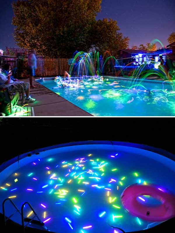 Glow pool party for the summer