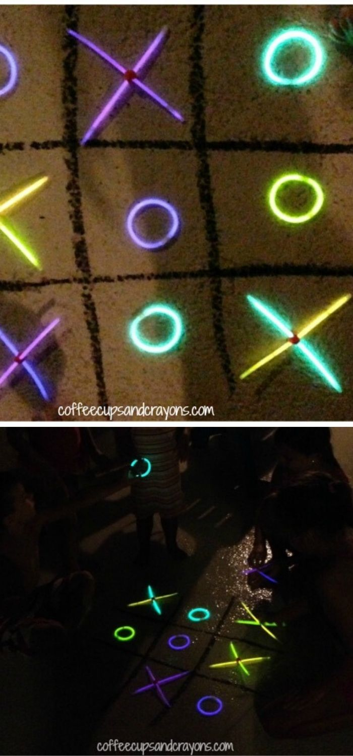Enjoy by playing tic tac toe in the dark