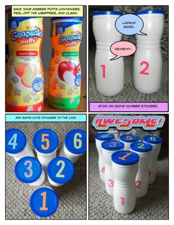 Recycle baby treat container