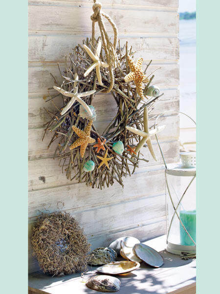 Beach-styled wreath | Beach-Style Outdoor Ideas For Your Porch and Backyard