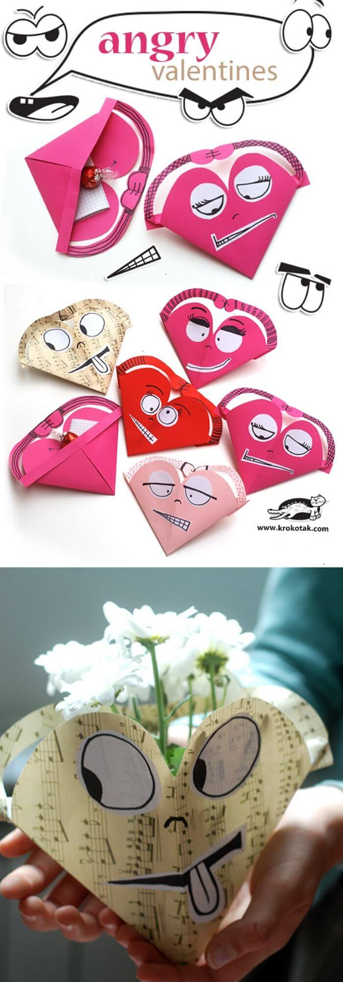 Angry Valentines | Heart-Shaped Crafts For Valentine's Day