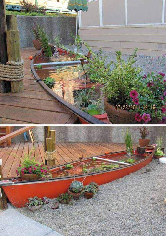 Boat pond | Beach-Style Outdoor Ideas For Your Porch and Backyard