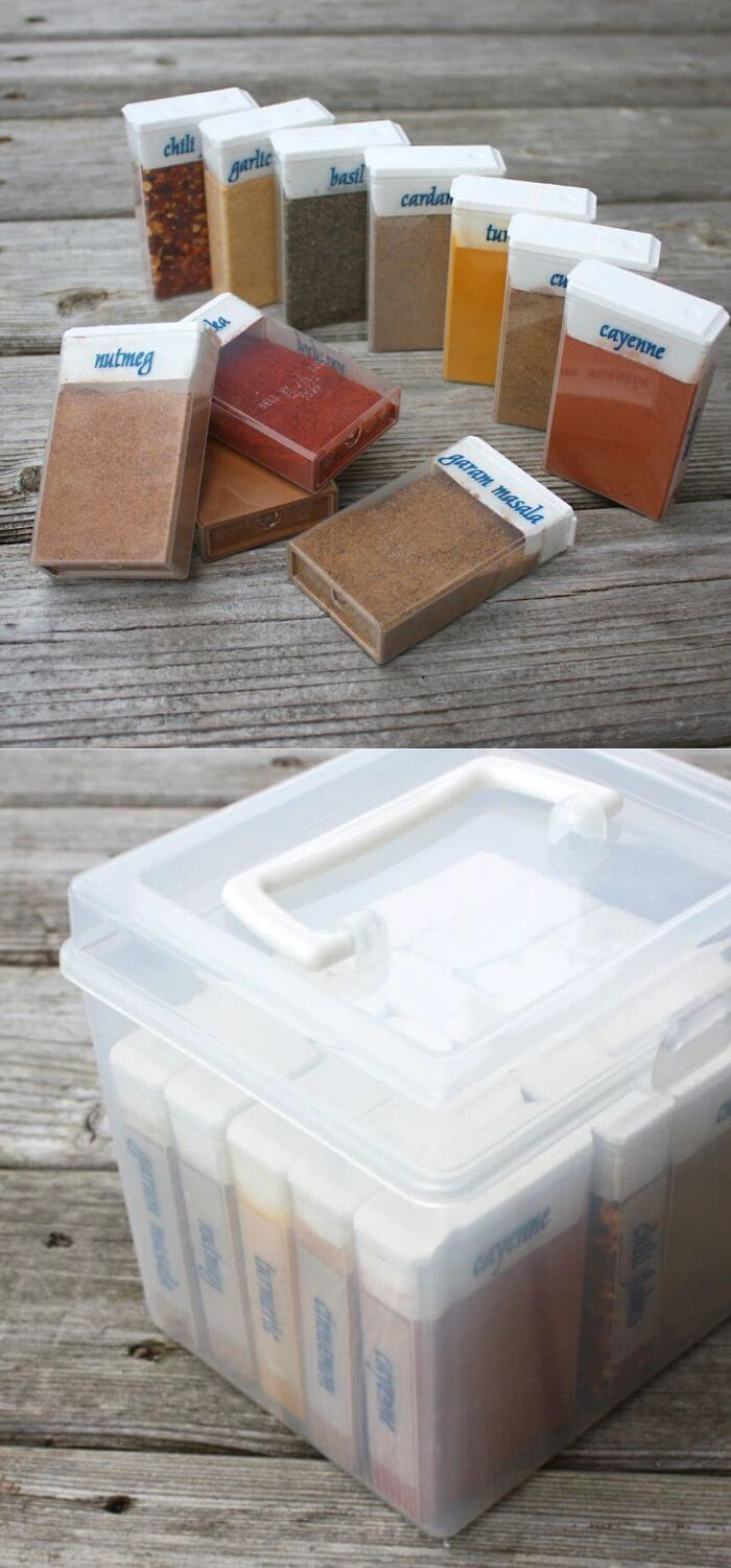 Re-purpose the tic tac boxes into travel boxes