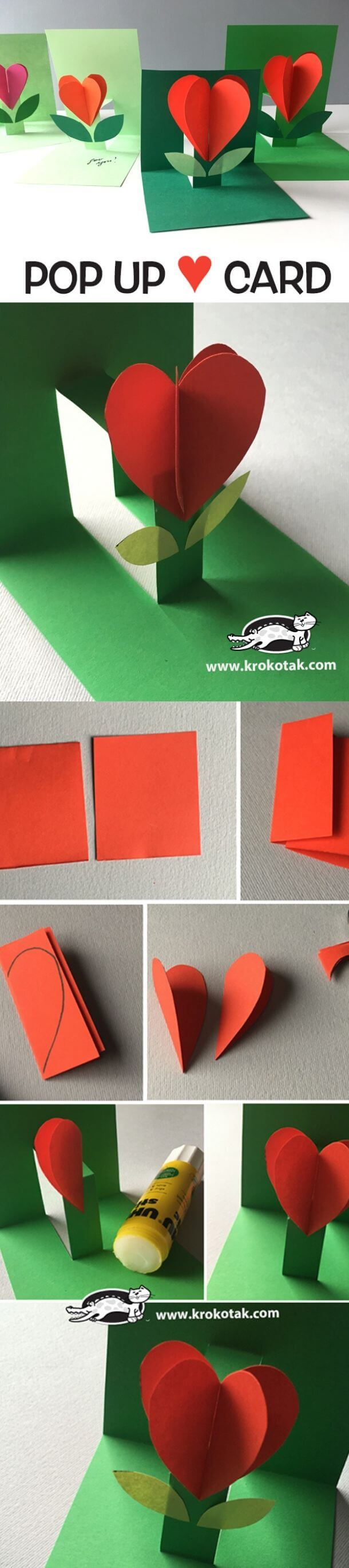 Popup heart cards | Heart-Shaped Crafts For Valentine's Day