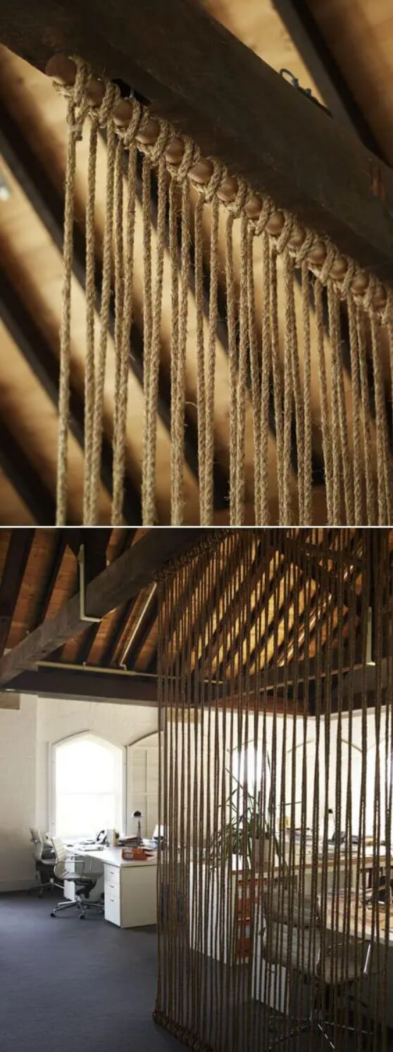 Another string thick ropes from floor to ceiling