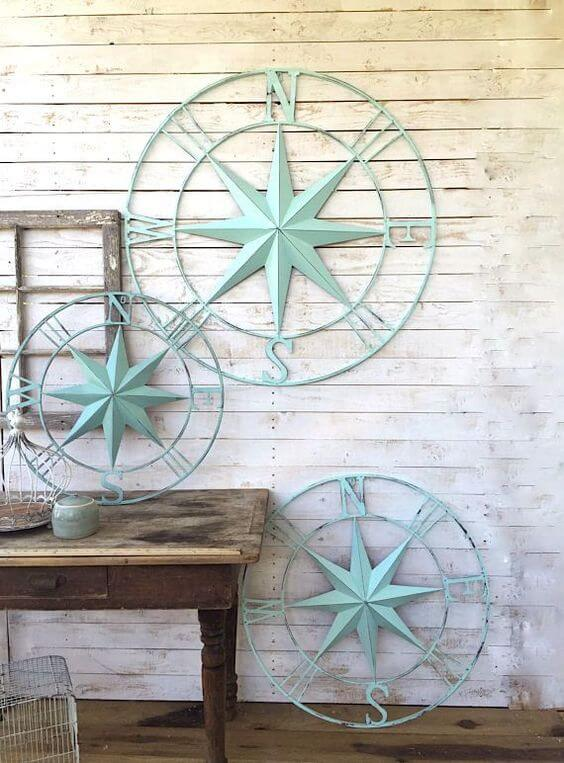 Compass Hanging ornaments | Beach-Style Outdoor Ideas For Your Porch and Backyard