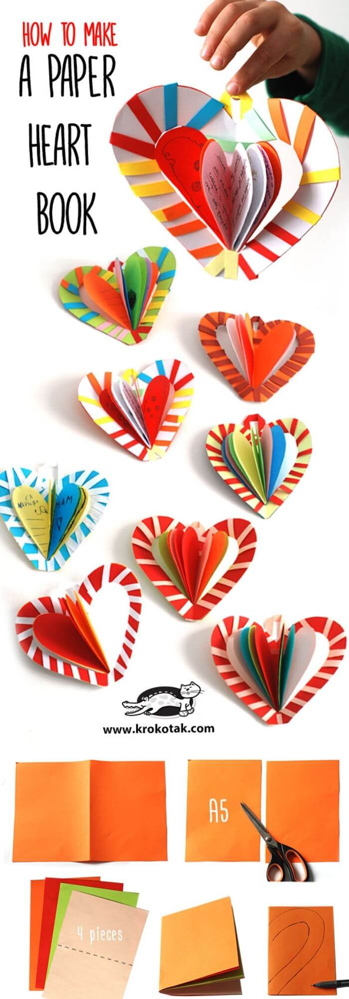 DIY Paper Heart Book | Heart-Shaped Crafts For Valentine's Day