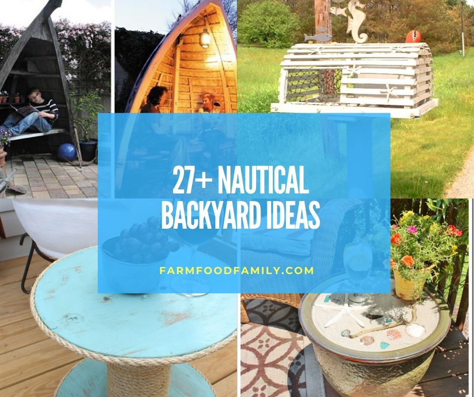 27+ Awesome Nautical Backyard Ideas - Beach-Style Outdoor ... on Nautical Patio Ideas id=19021