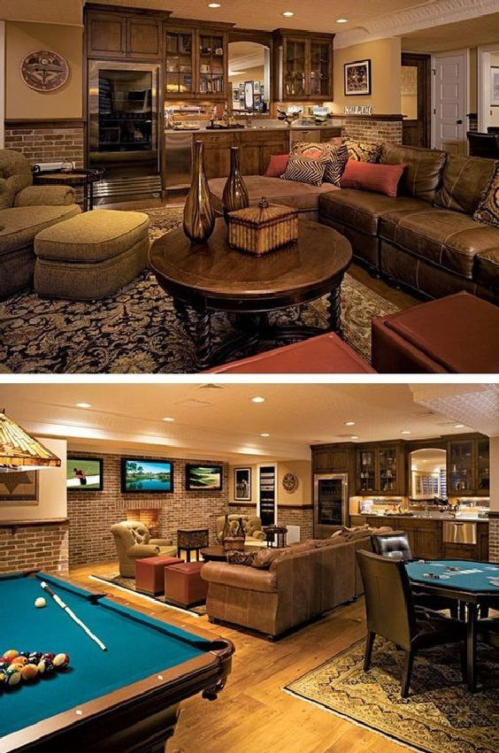 Simple yet classic man cave
