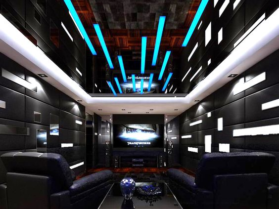 Hyperspace themed man cave