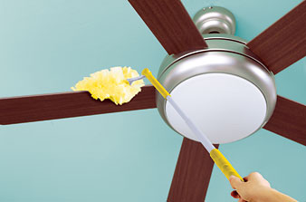 Dusting the Ceiling Fan