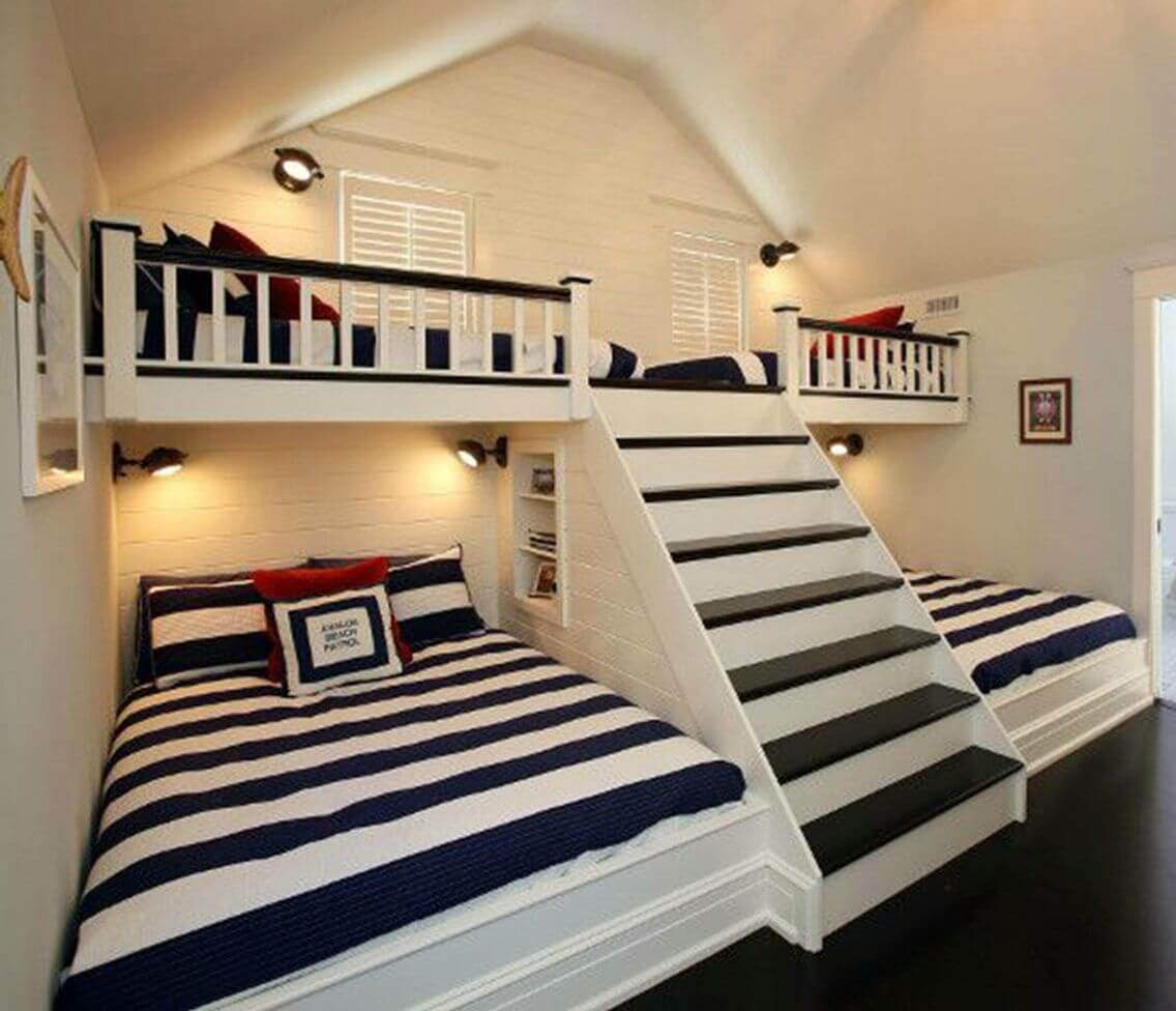 20 Built In Bunk Bed Ideas And Designs For Kids From A Fairy Tales 2021