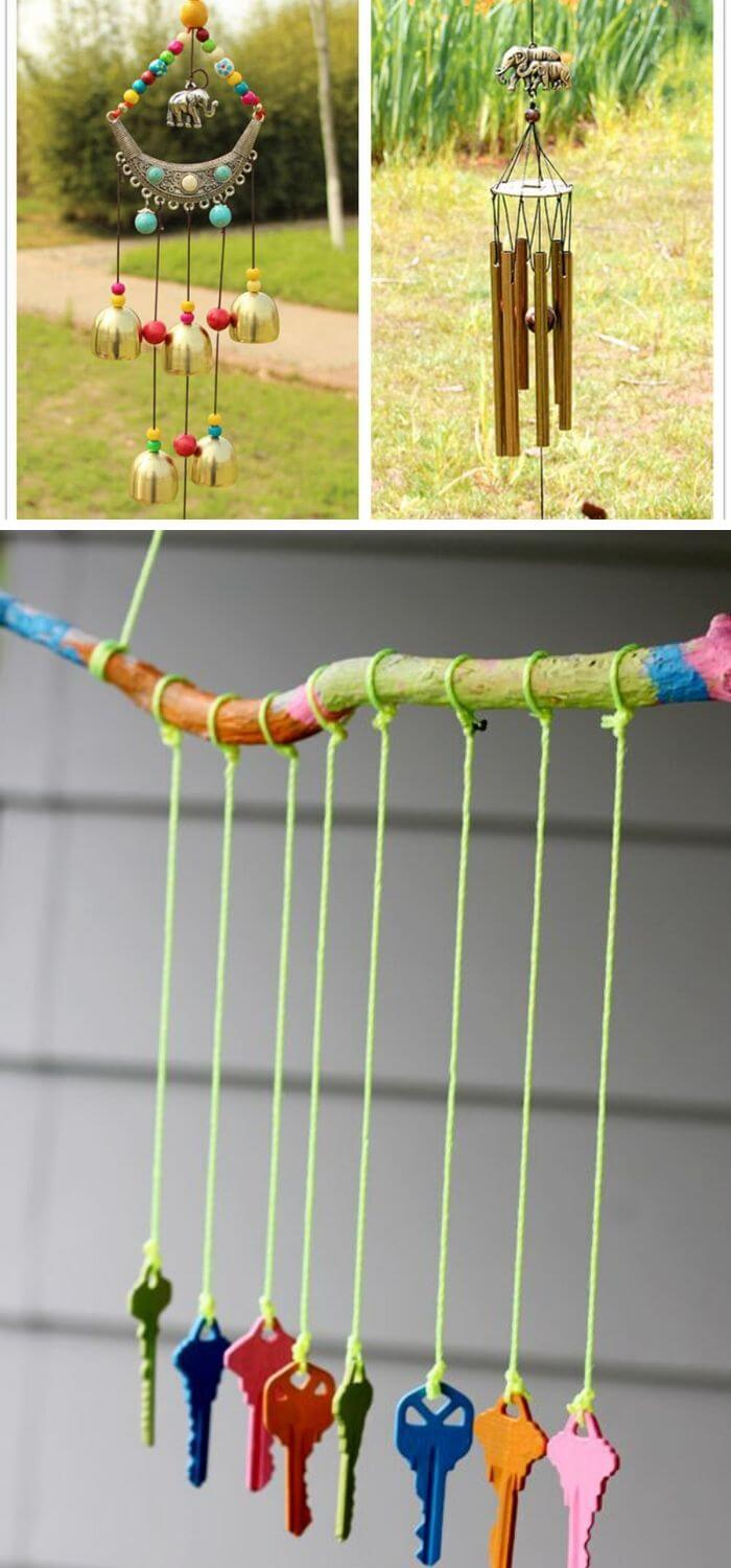 A Backyard with Wind Chimes
