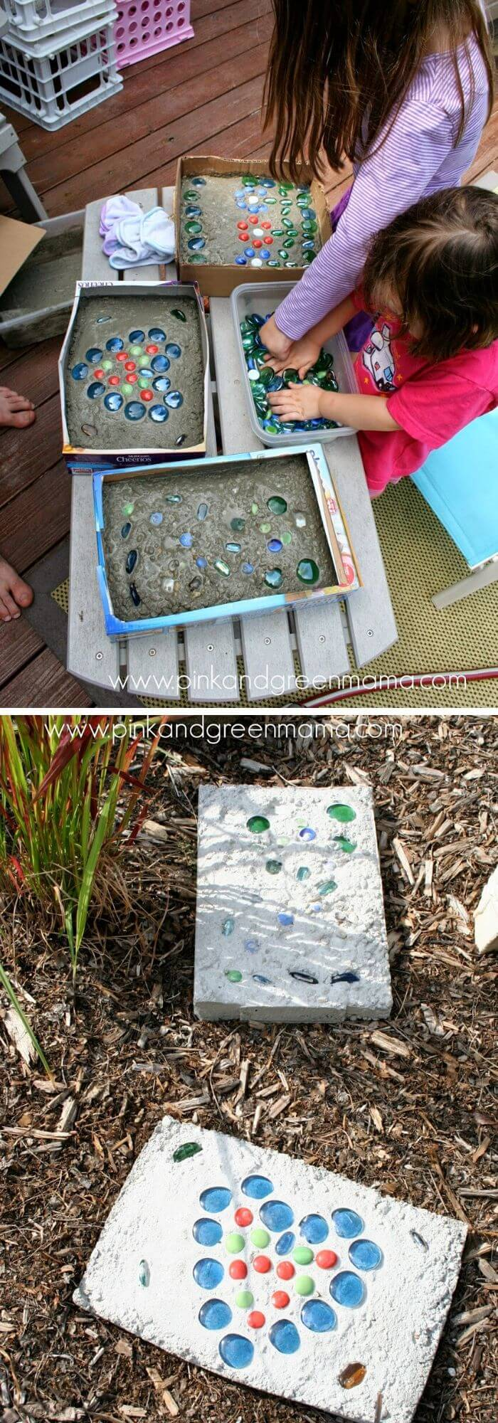 DIY cement stepping stones