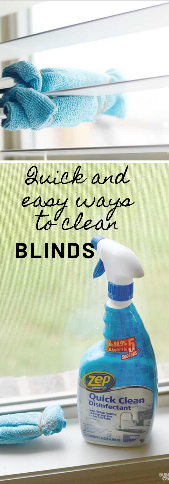 Easy ways to clean blinds