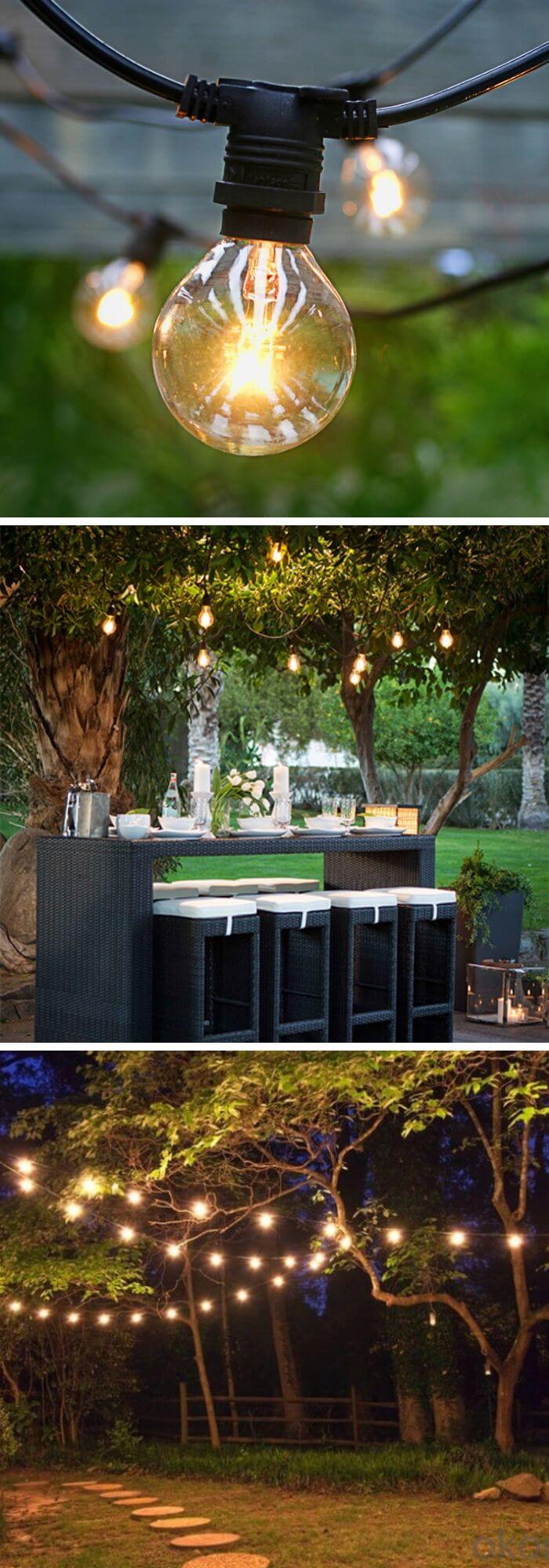 A Backyard with Excellent Mood Lighting