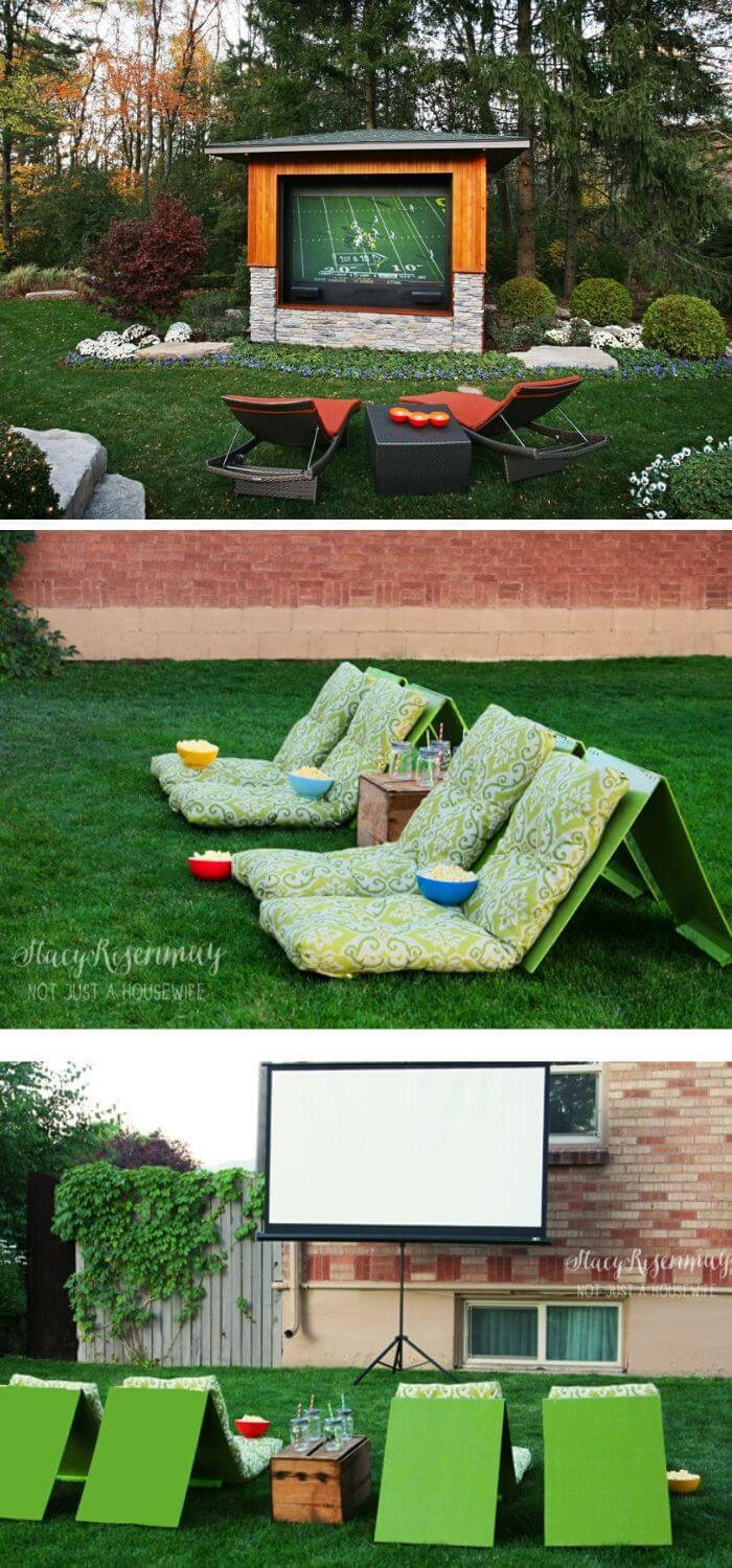 A Backyard with a Movie Space