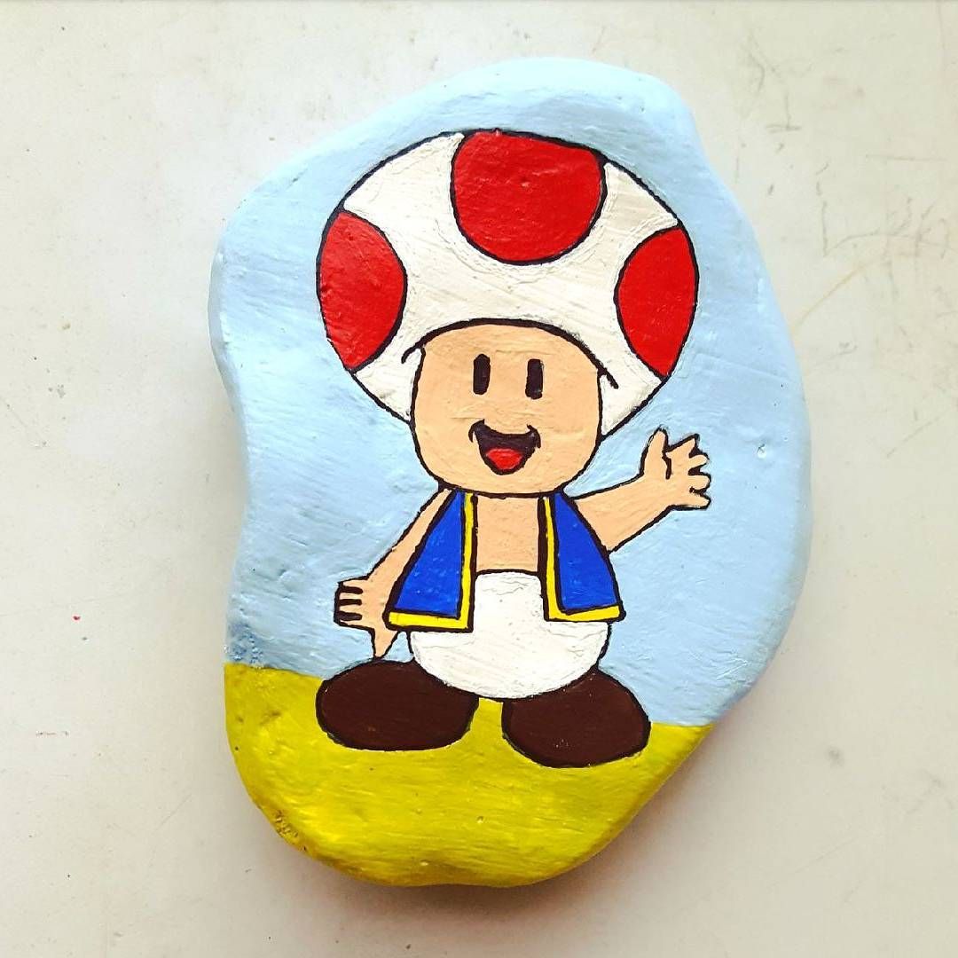 Aladin painted rock