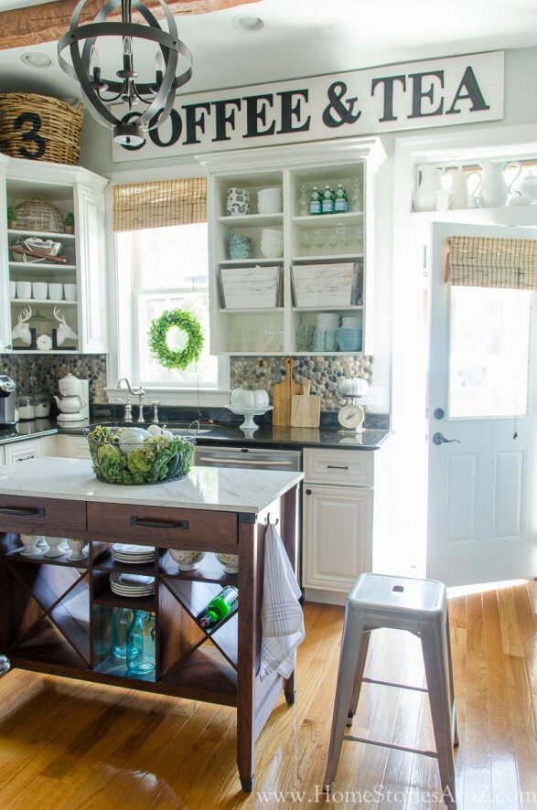 Farmhouse kitchen with Antique signs