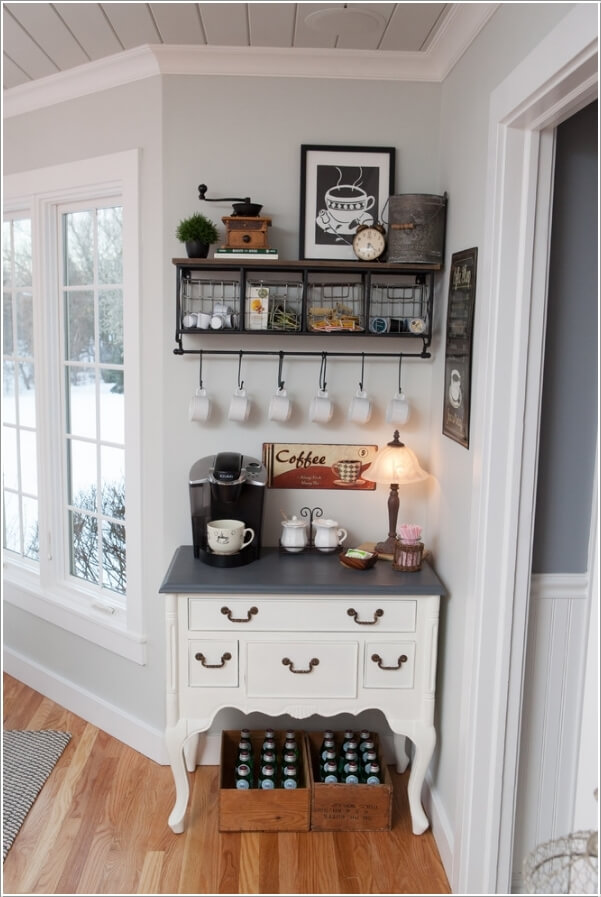 Farmhouse kitchen with small coffee nook
