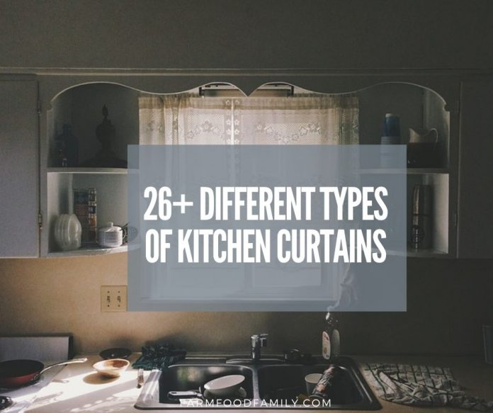 beautiful types of kitchen curtains