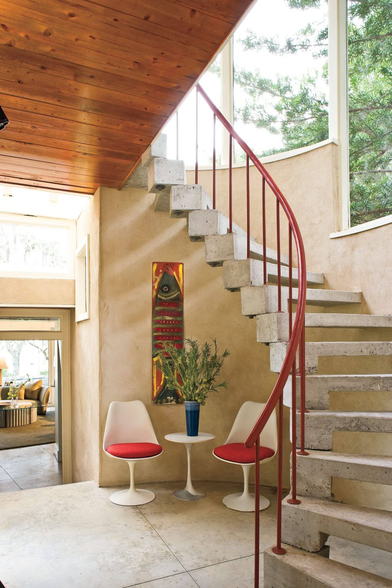 Quonset Hut Homes with Stairs