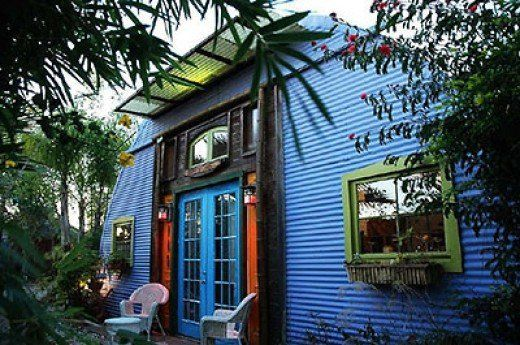 Colorful Quonset Huts