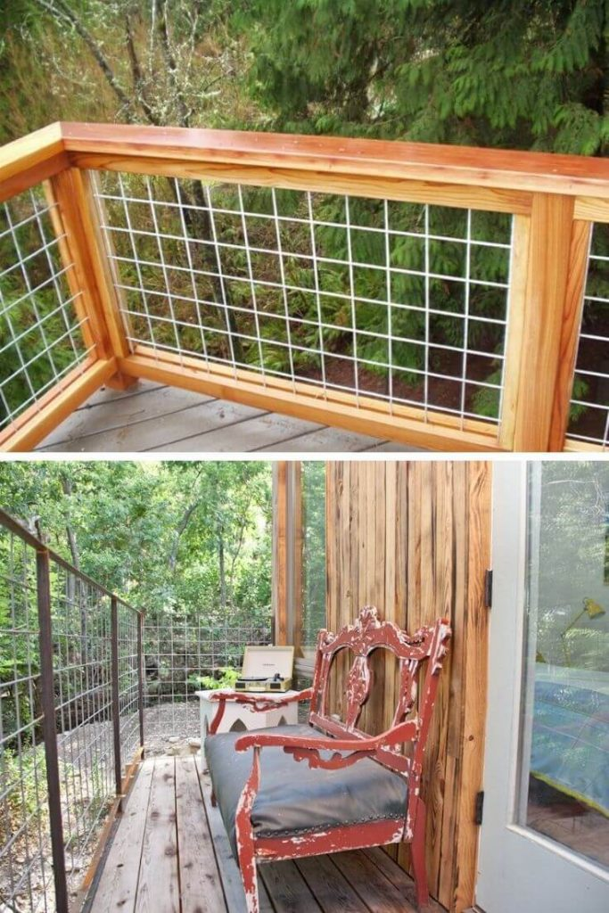 Wired porch railing