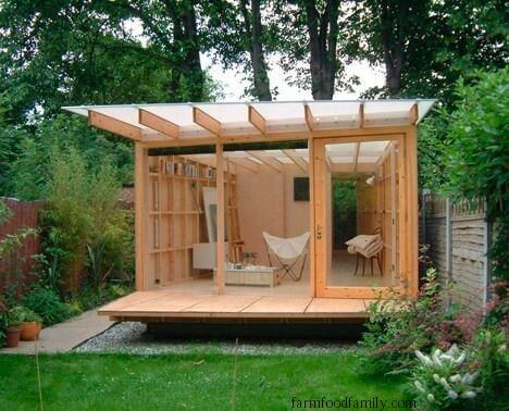Artsy office shed