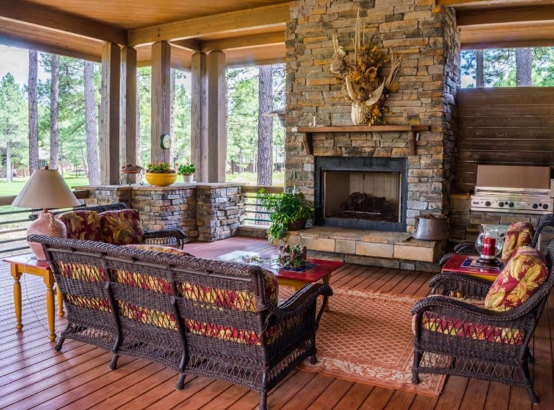 Incorporate the Tuscan Feel with Wood and Bricks