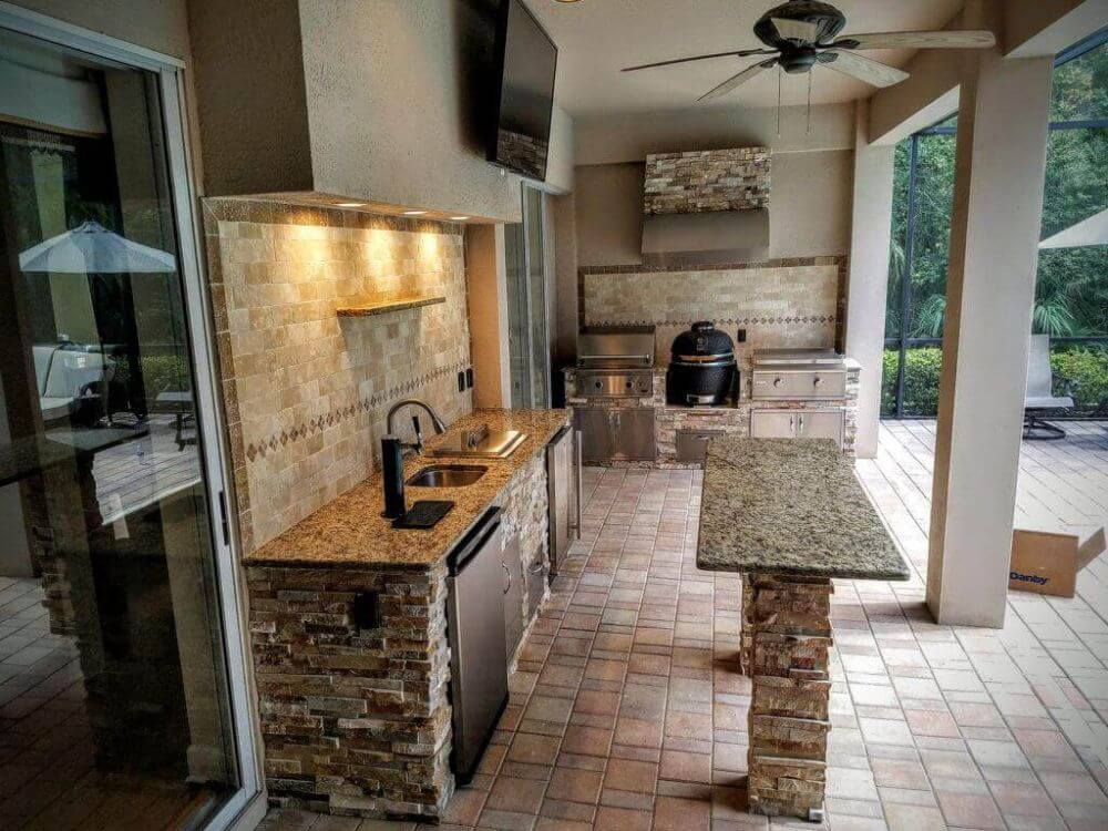 Full Patio Grill with Island