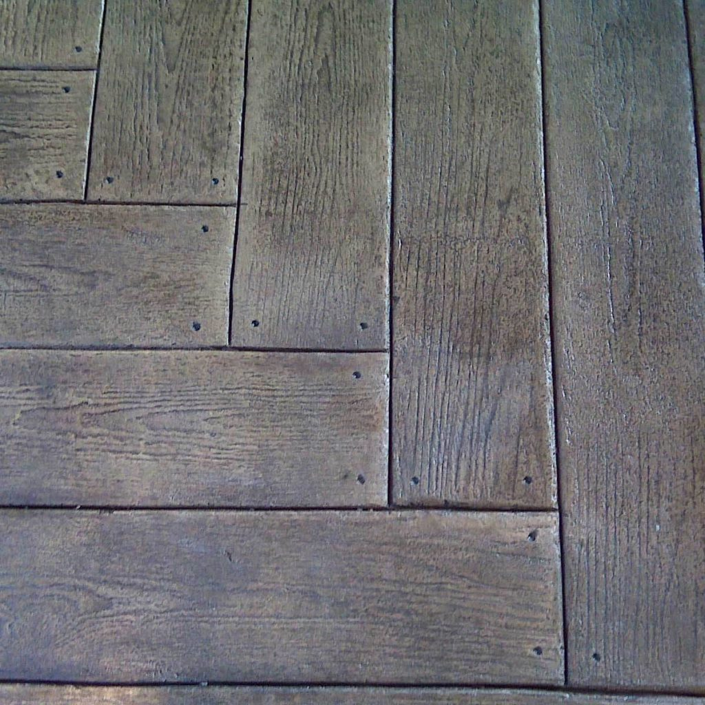Build a Wood Plank Stamped Concrete