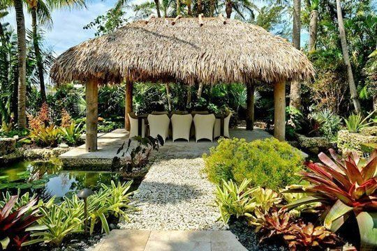 Include Thatched Roofs to Your Tiki Backyard