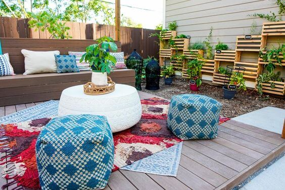 Incorporate Bright Colors in Your Backyard
