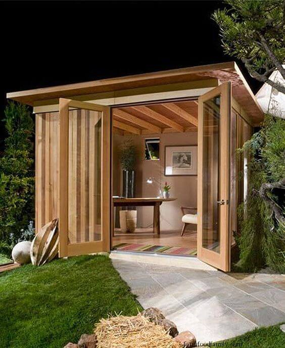 Rustic minimalist office shed
