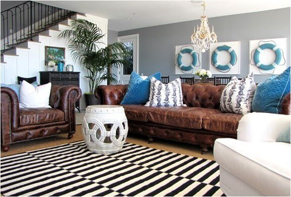 Best Dark Brown Leather Sofa Decorating, Living Room Decor Ideas With Brown Leather Furniture