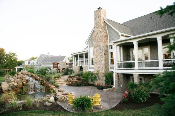 Think of Walkout Basement Patio with a Pond