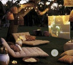 Backyard theater party
