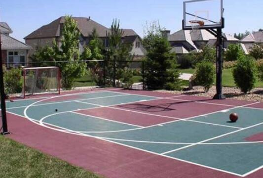Go for a Textured Basketball Court