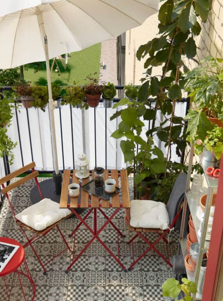 Cover Your Patio with a Tilted Umbrella