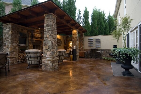 Integrate Outdoor Stain Patio