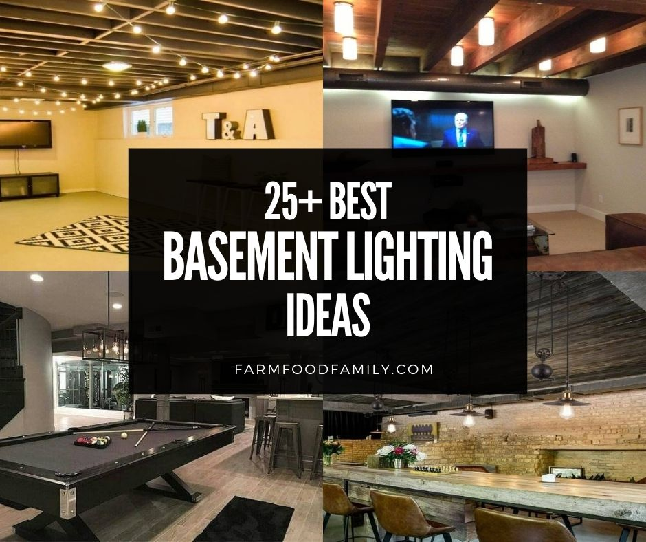 25 Awesome Basement Lighting Ideas Designs For 2021