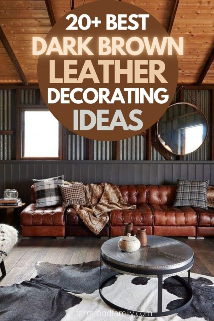 Best Dark Brown Leather Sofa Decorating, What Colours Go With Dark Brown Leather Sofa