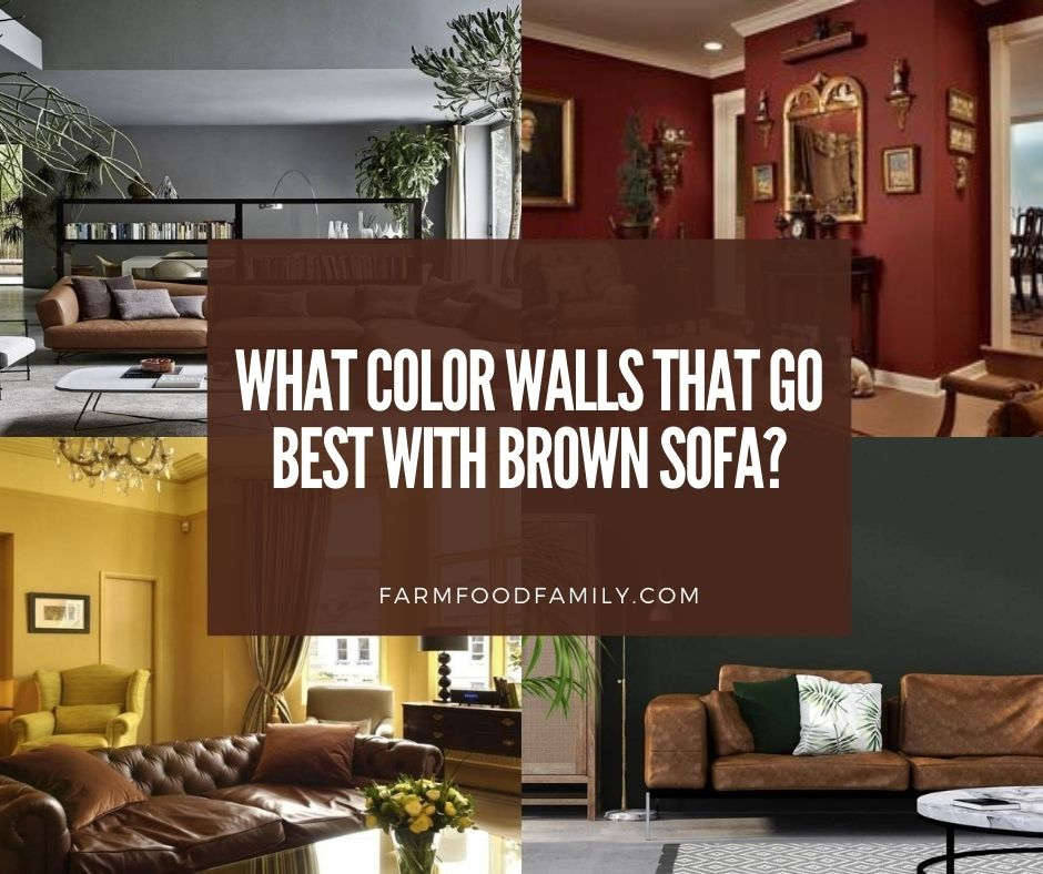 What Color Walls That Go Best With, Paint Colors For Living Room Walls With Brown Furniture