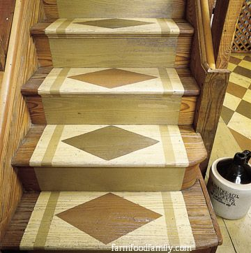Customized stenciled treads
